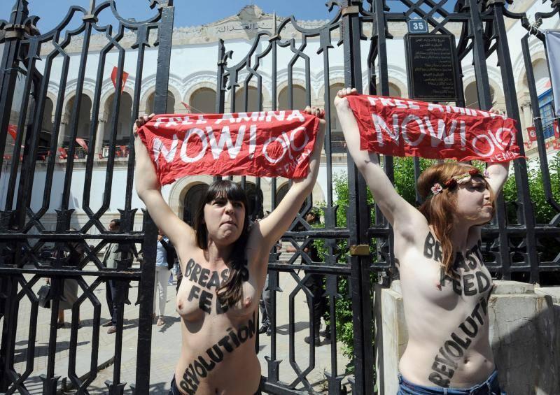 'Topless protesta' en Túnez
