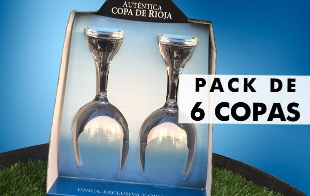 Pack de 6 exclusivas Copas de Rioja