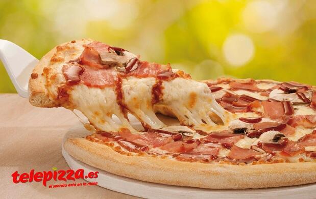 PIZZA MEDIANA con 3 ingredientes por 5,95€