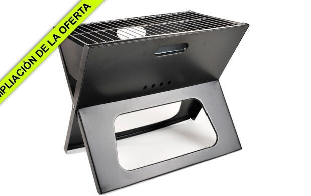 Barbacoa portátil de acero laminado