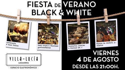 FIESTA DE VERANO BLACK & WHITE en Villa-Lucía