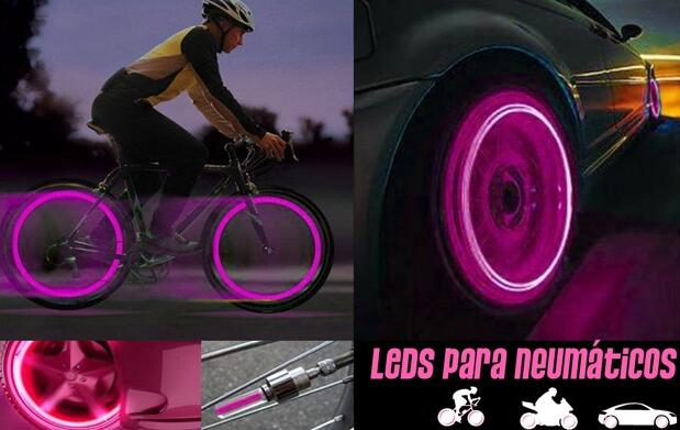 2 Luces LED para bici, coche o moto