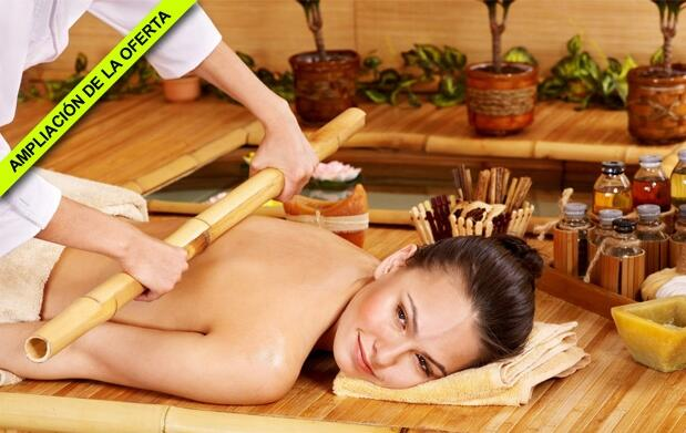 Masaje relajante de piernas, espalda y facial