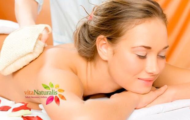 Peeling corporal e hidratación de 45 minutos
