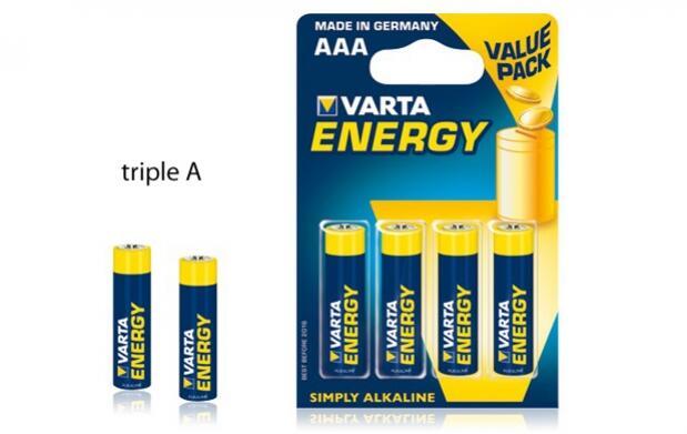 Paquete de pilas alcalinas Varta