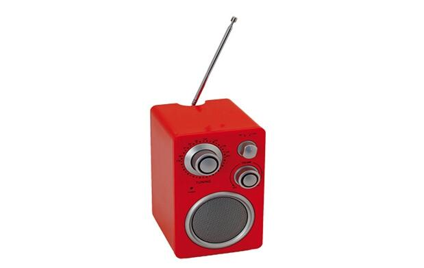 Mini radio de diseño con entrada mp3