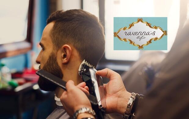 Corte de pelo de chico y arreglo de barba, en Ravenna's Stylo