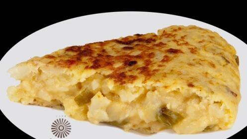 Deliciosa tortilla de patata del Café Robusta