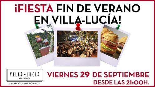 Fiesta fin de verano en Villa-Lucía