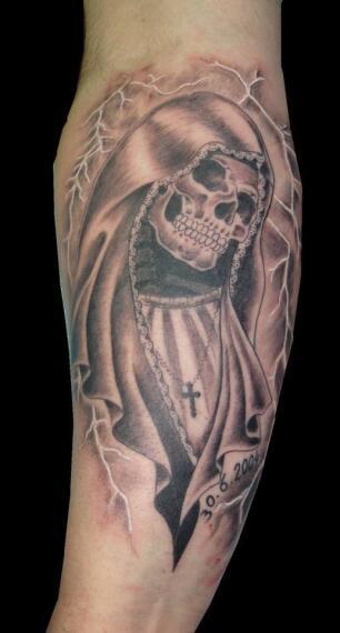 Calaveras Dradones Flores Los Dibujos De Los Tatuajes De Javier