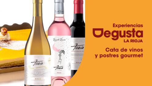 Disfruta de una exquisita cata de vinos y postres gourmet