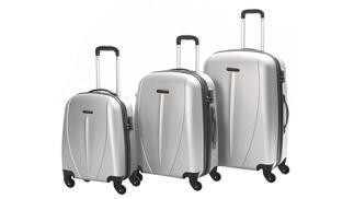 Set 3 maletas ABS Trolley con 4 ruedas dobles