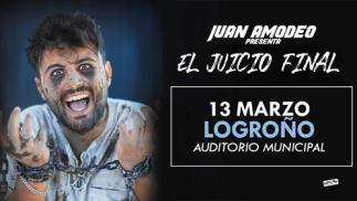 """Juan Amodeo """"El juicio final"""" 13 de marzo en Logroño"""