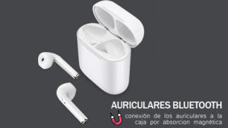 Auriculares bluetooth In Ear con base de carga