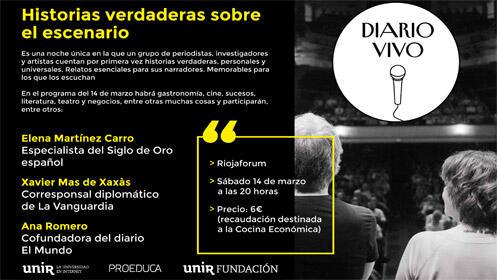 Diario vivo, historias verdaderas sobre el escenario en Riojaforum