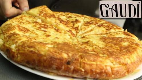 Celebra el verano con las tortillas de patata del Café Gaudí. Elige la que tu quieras