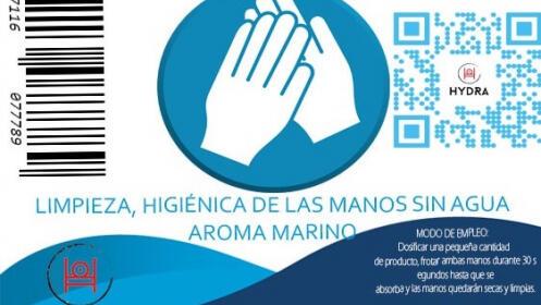 Bote desinfectante de manos de 400 ml. HYDRA CLEAN HAND. Envío a domicilio