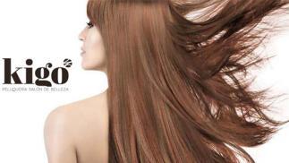 Tratamiento de brillo y color para el cabello en Peluquería Kigo