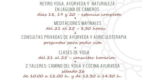 Taller de yoga y cocina ayurveda con Kunda Mavlankar