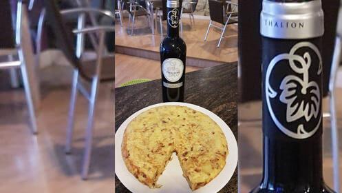 Prueba la tortilla de patata tamaño XL en Cafetería Madrid