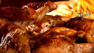 Exquisito menú para 2 personas con pollo asado en Nico´s Brasería Riojana