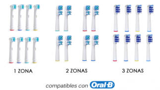 Pack 8 cabezales compatibles Oral B