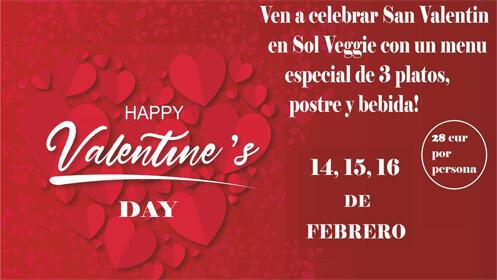Ven a celebrar San Valentín en Sol Veggie