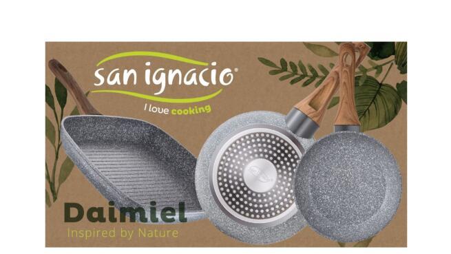 Set 2 sartenes efecto piedra + Sartén grill San Ignacio