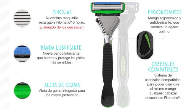 Maquinilla de afeitar Filomatic + Recambios