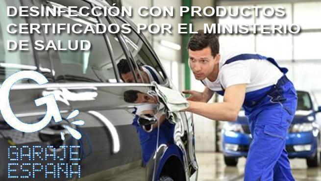 Lavado interior y exterior de vehículo ¡desinfecta tu coche!