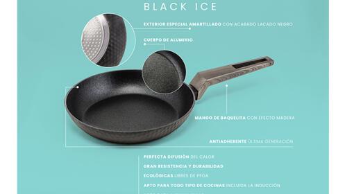 Set 2 sartenes antiadherente reforzado AMERCOOK Black Ice