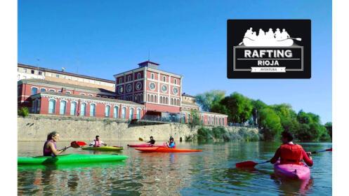 Paseo en piragua, descubre Logroño este verano desde el río Ebro