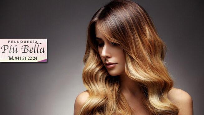Sesión de peluquería personalizada en Piu Bella, elige tu opción