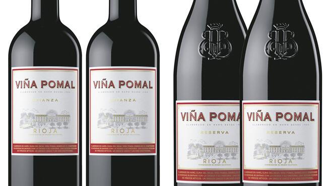 Lote 4 botellas de Viña Pomal + copas de cristal