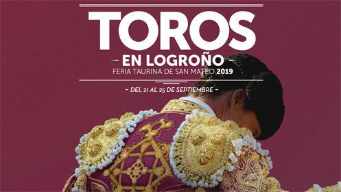 Corrida de toros 23 septiembre,  Logroño. Feria San Mateo 2019